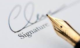 التعريف بالامضاء